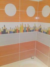 Detail obkladačiek v kúpelni - Rako Mikado