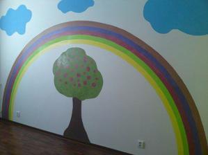 Náš kreatívny ocinko vytvoril v detskej izbe túto kresbu