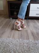 Béžové sandálky, 37