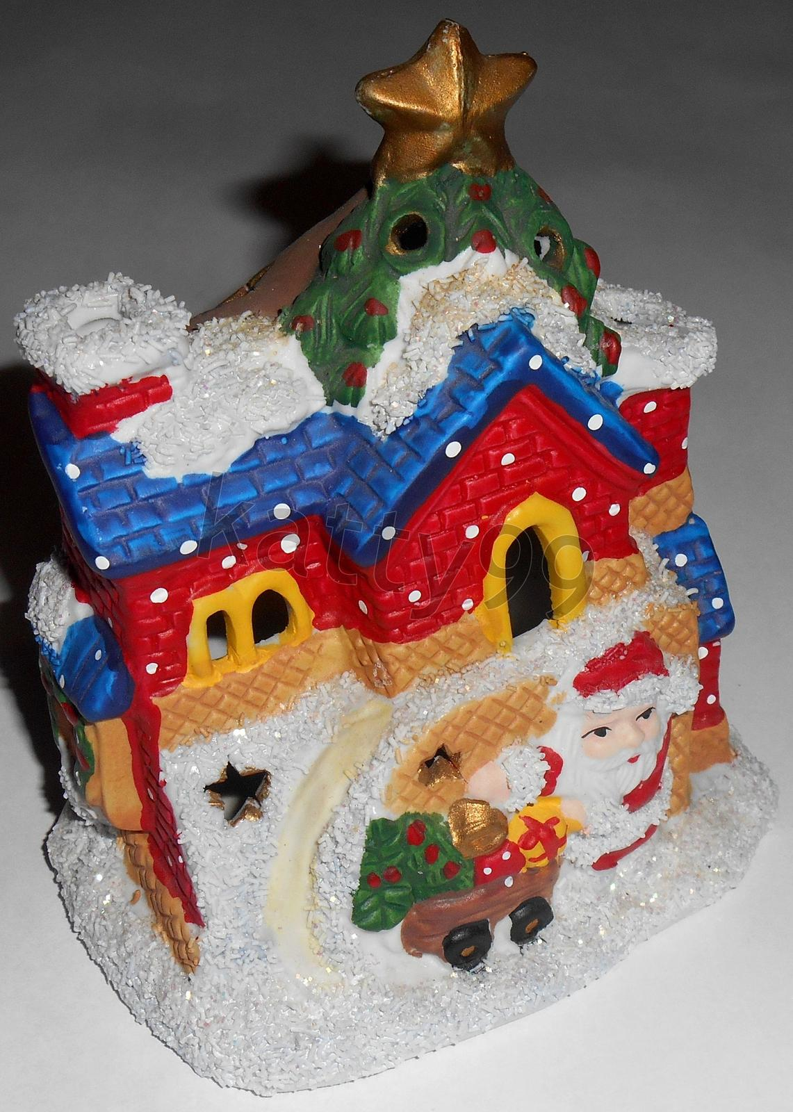 Vianočný domček na sviečku - Obrázok č. 1