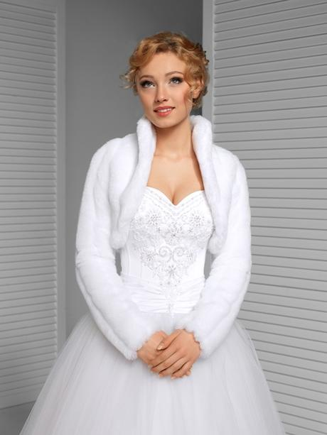 svatební bolerko, kožíšek - Obrázek č. 1