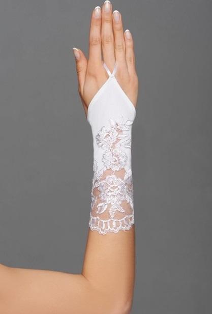 svatební rukavičky bílá a ivory - Obrázek č. 1
