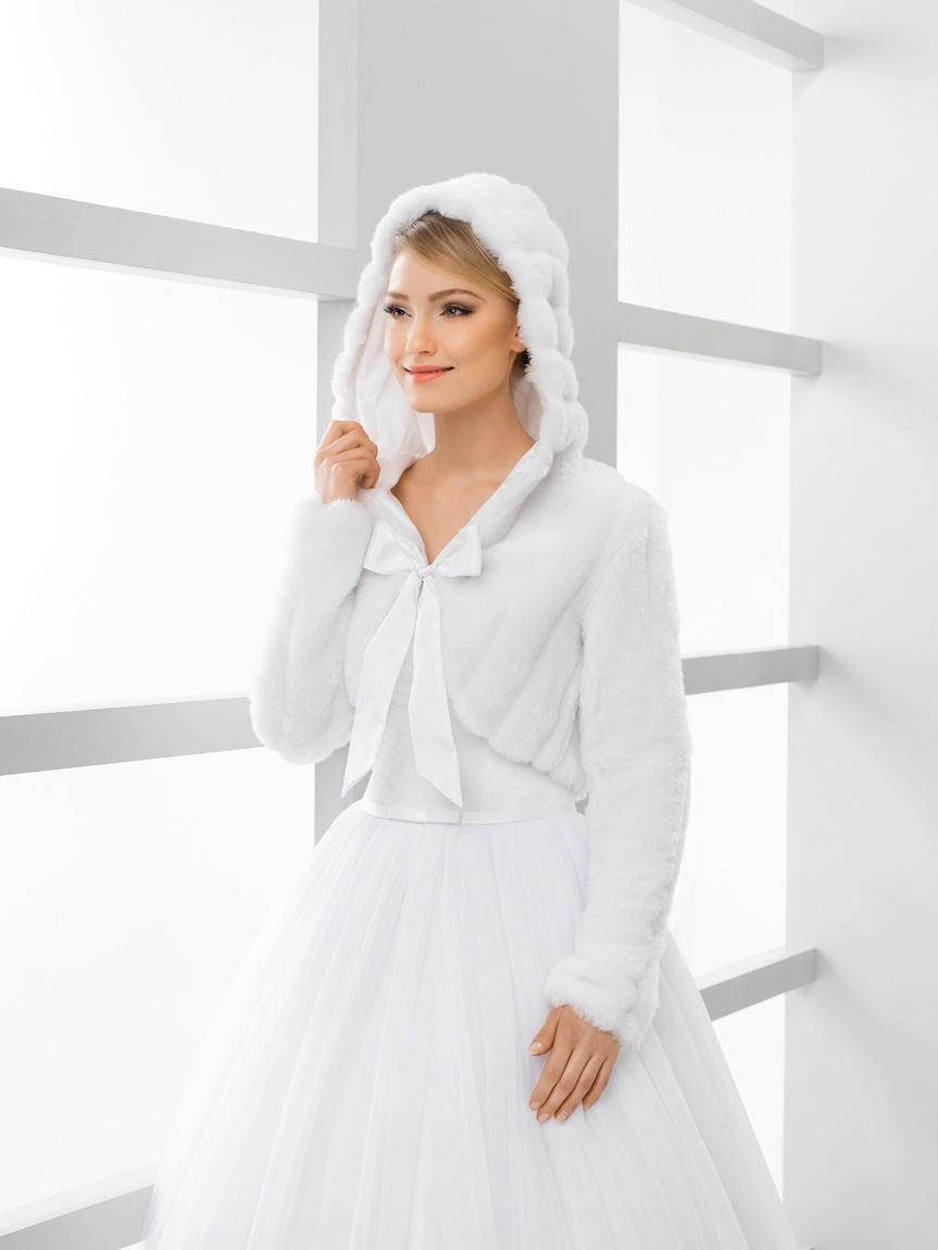 svatební kožíšek s kapucí - Obrázek č. 1