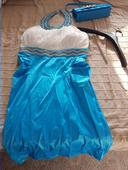 Společenské šaty modrobílé, 50