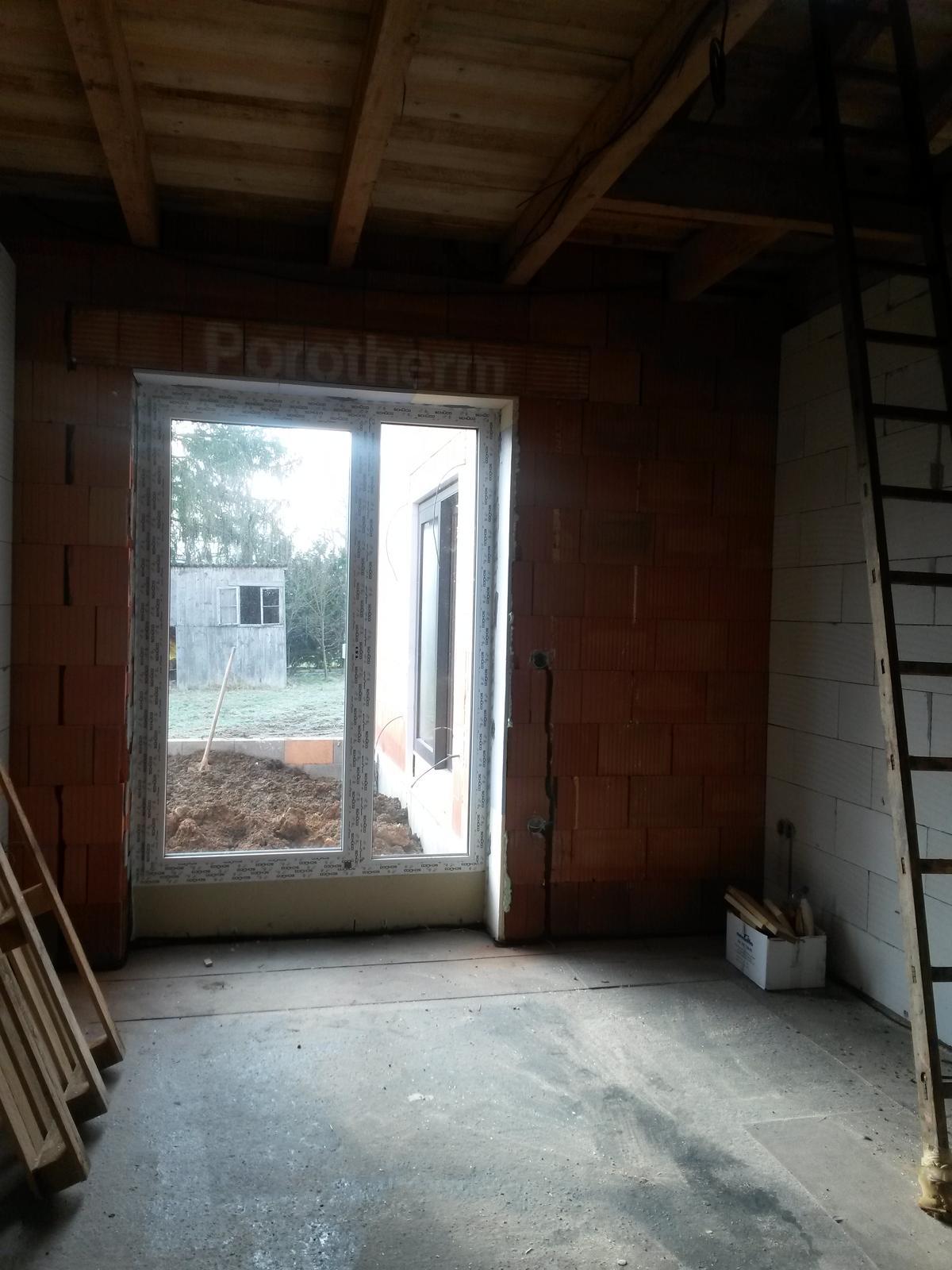 """Domeček - pokoj dcerky(nakonec bude mít z malého pokoje pokoj """"mezonetový"""" , místo žebříku budou schody do místnosti, která vznikla během stavby tak nějak mimo plán"""