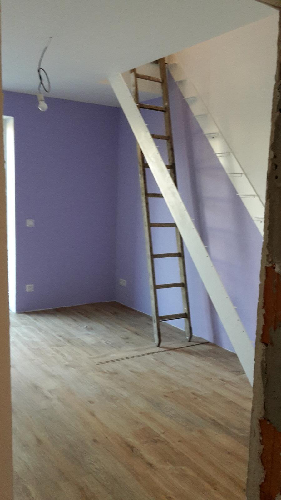 Domeček - únor2017 - položené podlahy, příprava na schodiště...