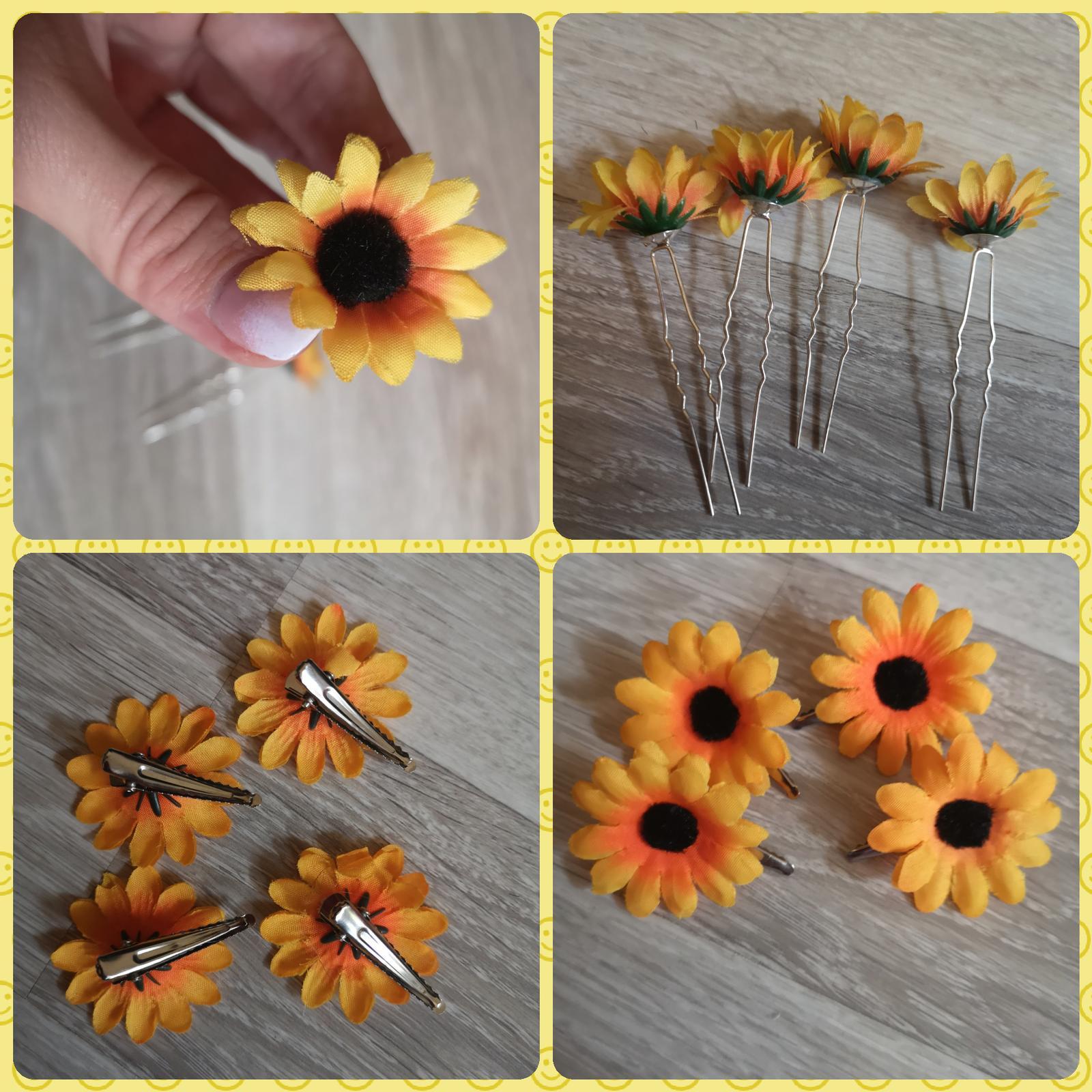 4ks slnečnice - zapichy do vlasov - Obrázok č. 1