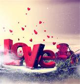Fotoplátno LOVE,