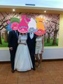 Nadherné kvalitné svadobné šaty s kruhom,zavojom, , 38