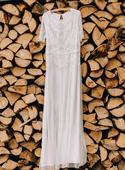 Korálkové splývavé šaty, 40