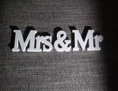 Ozdoba na stôl Mrs & Mr,