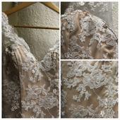 Krajkové svatební šaty s výstřihem zad, 38