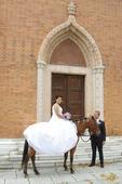 Svatební šaty pro těhotné, extra široká sukně, 44