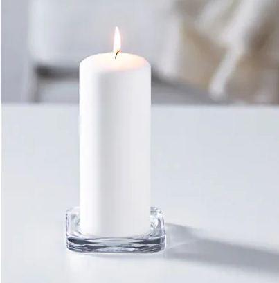 Podložka pod svíčky, čiré sklo - Obrázek č. 1