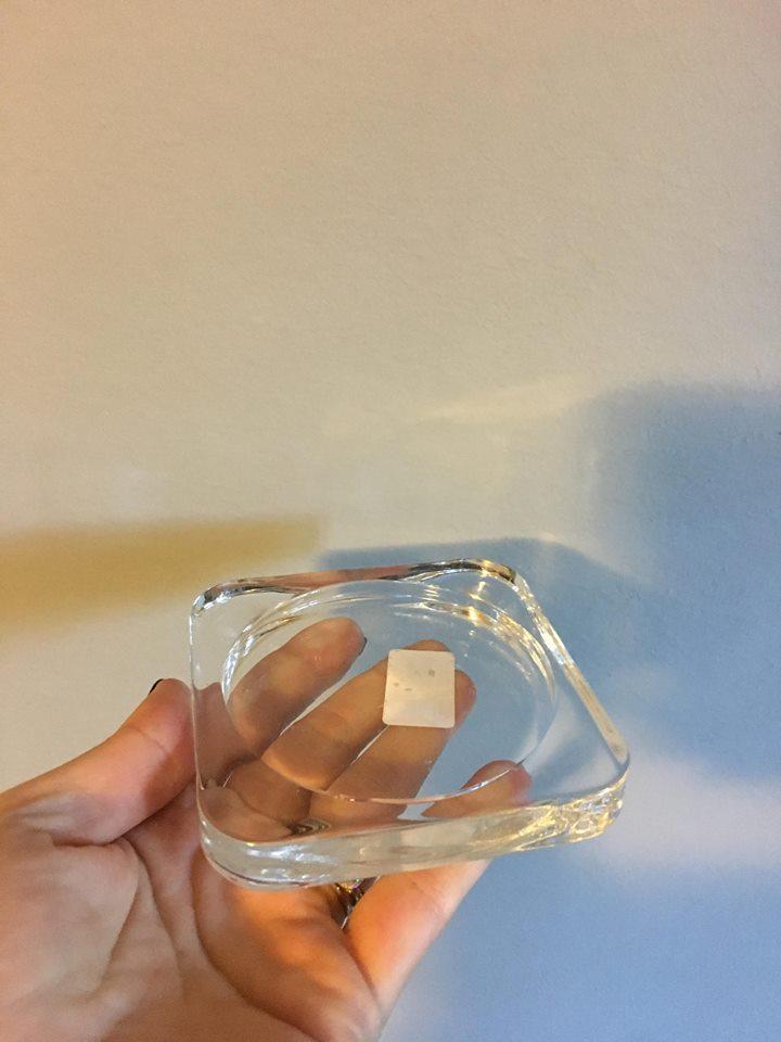 Podložka pod svíčky, čiré sklo - Obrázek č. 3