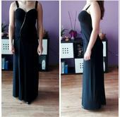 černé plesové šaty, 40