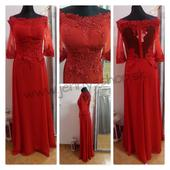 Pink Boom Paris červené šaty, 38