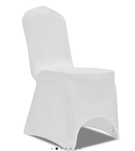 Univerzalne biele navleky na stolicky do 100cm - Obrázok č. 1