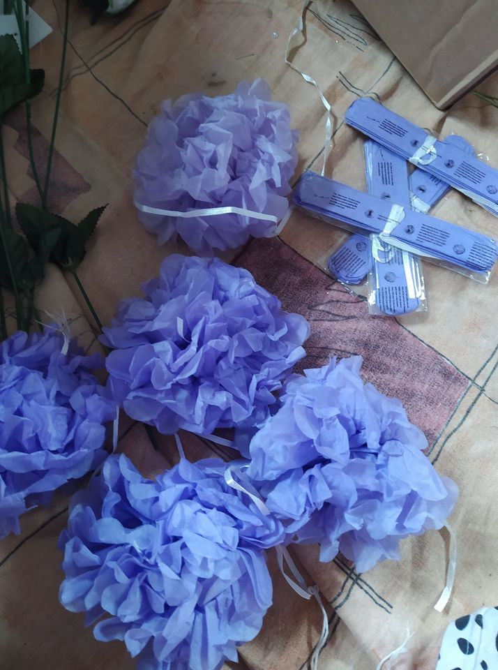 pompomy - květiny - Obrázek č. 1