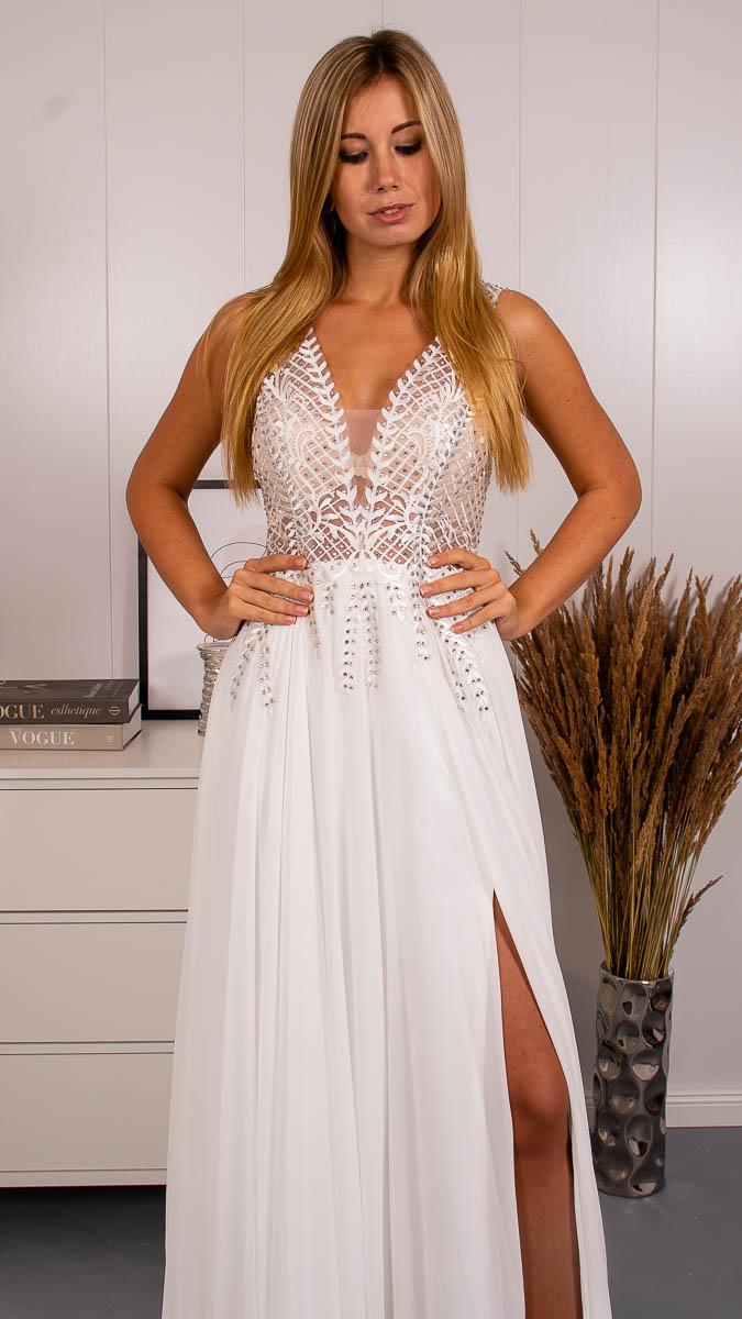 Svatební šaty s rozparkem - Obrázek č. 4