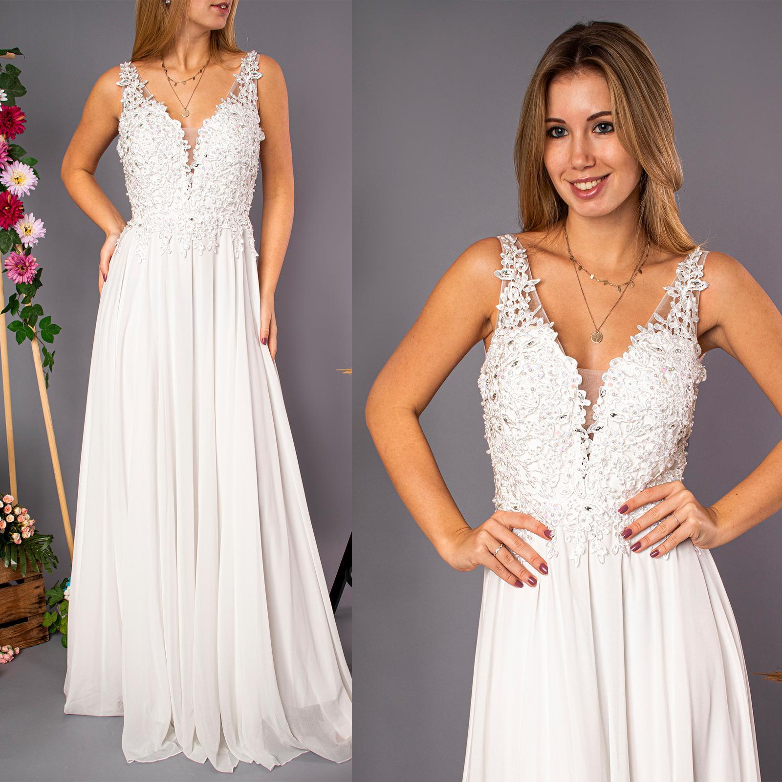 Svatební šaty s krajkou - Obrázek č. 1