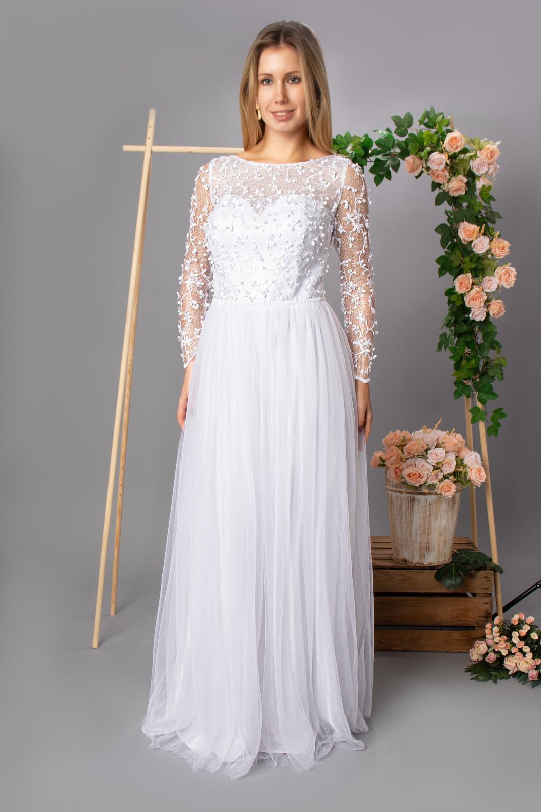 Svatební šaty se zdobením - Obrázek č. 1