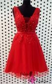Červené šaty krátke, M