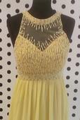Žlté spoločenské šaty M/L, M