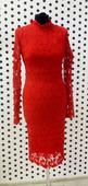 Čipkované červené šaty , L