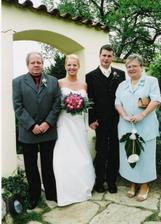 s mamčou a taťkou ženicha