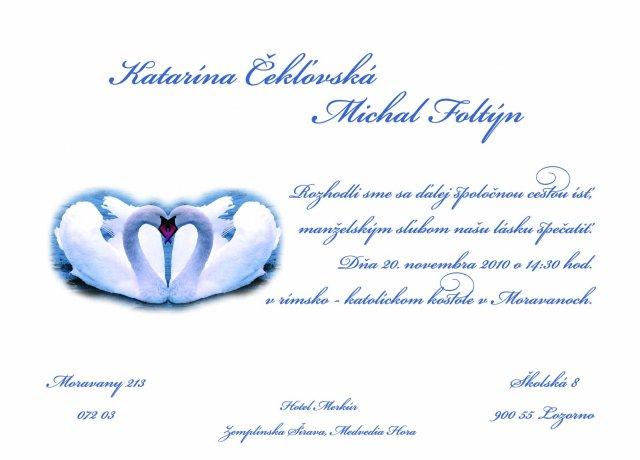 Svadba-prípravy - Naše oznamko