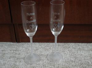 skleničky na přípitek se jmény