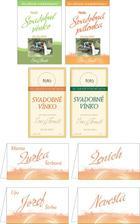 Niekoľko návrhov etikiet na svadobné vínko.