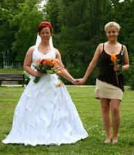 já a moje sestřička jako nevěsta
