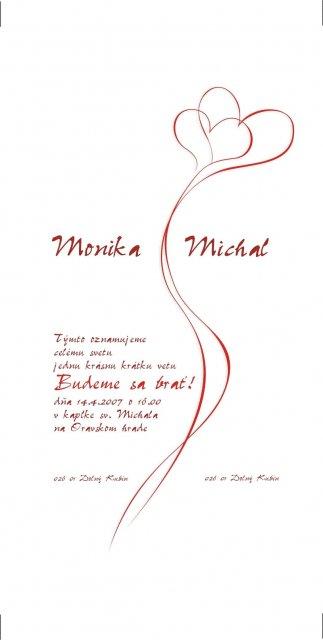 Svadobné prípravy na 14.4.2007 - nase oznamenie... to ktore sa bude tlacit je uz bez chybiciek :-)