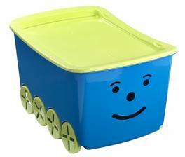 Box na hračky z Jysku už máme - určitě se bude ještě hodit.