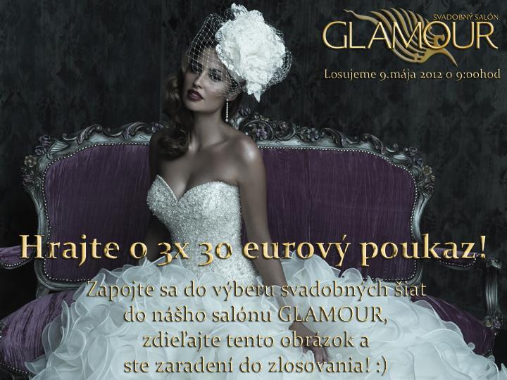 """*Atraktívna hra salónu GLAMOUR - zapojte sa a vyhrajte* - """"like-ujte na našom Facbook-u: www.facebook.com/salonglamourke Ďakujeme :)"""