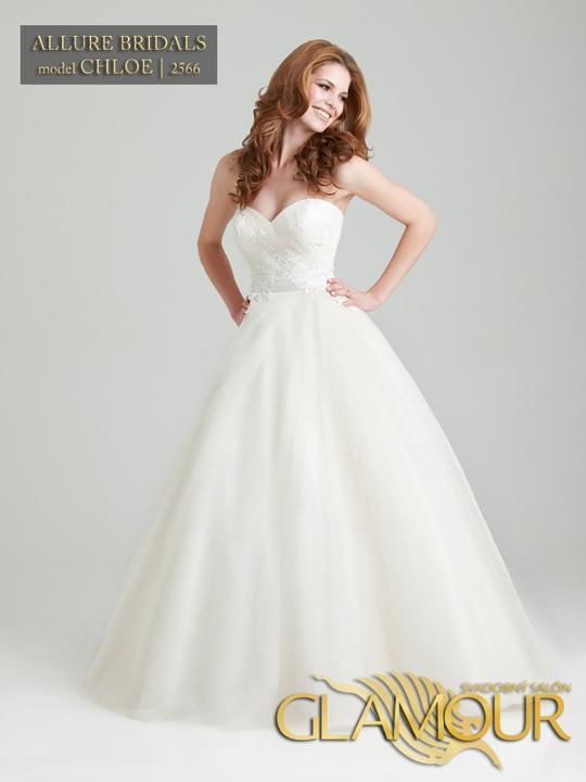 Nová kolekcia 2013 v salón Glamour - Allure Bridals model Chloe | 2566 /farba: biela, veľkosť: 32/34/36/