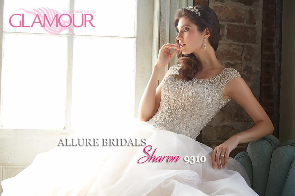 Svadobný salón GLAMOUR OF ANGELS - Sharon 9310 od Allure máme v obľúbenej Ivory farbe :)