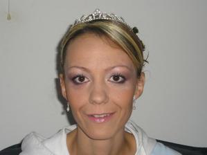 a takýto som mala svadobný make up