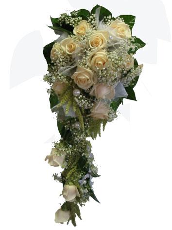 Tuto vazbu, ale bílé růže