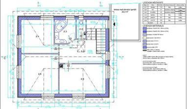 Půdorys 2.NP, 2.1-chodba 11m2, 2.2-WC 2m2, 2.3-koupelna 5,8m2, 2.4-ložnice 13,9m2, 2.5- dětský pokoj 18.1m2, 2.6-dětský pokoj 16,8m2