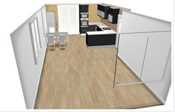 Takhle by měl vypadat prostor obýváku s kuchyňským koutem