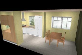 Prvé návrhy - kuchyňa, jedáleň