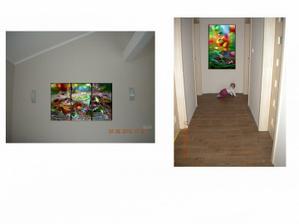 pohlad z jedálne uvidím na obidva obrazy nebude to blbééé? a ak ano tak aký obraz tam mám dať ? abstrakt ale iný???