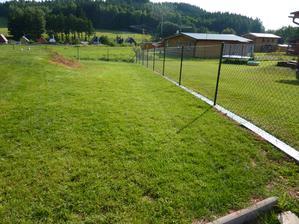 Tak máme hotový plot a Sašenka (pejsek) si už dnes vyběhla bez vodítka :-) Jupíííí