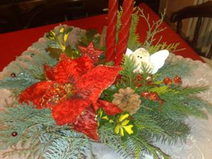 Ikebana na stôl