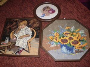 anjeliky sme mali rovnaké s kolegyňami a zvyšné dva obrazy nám visia nad hlavami v obývačke