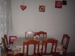 stena oproti linky je úplne prázdna až na pár lienok,xixi a je tam mriežka z rozvodu tepla z krbu,ktorý je za stenou