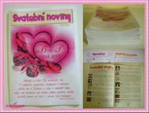 pro zabavení svatebčanů během focení jsme připravili svatební noviny